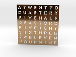 Wordclock Faceplate (Stencil font)