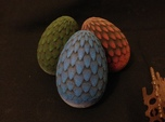 6cm Red Dragon Egg (solid)