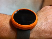 Moto 360 Bumper Case - Tall, Gen 1 in Orange Processed Versatile Plastic