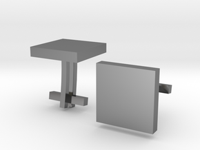 Square Cufflinks in Premium Silver