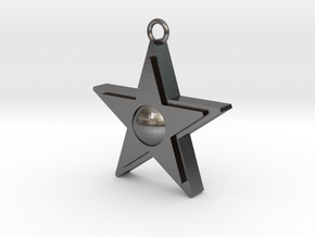 Star Pendant in Polished Nickel Steel