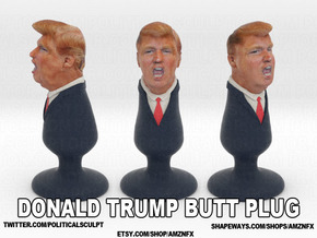 Donald Trump Plug in Full Color Sandstone