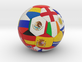 Ball with flags in Full Color Sandstone