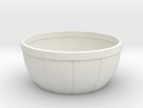 Bowl 7x7x3 inches in White Strong & Flexible