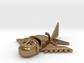 "Pre-Colombian ""airplane"" 2 in Raw Brass"
