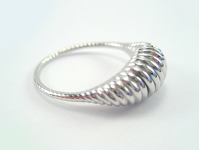 Spiral Ring in Rhodium Plated