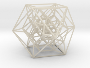 Rectified 24-cell, Perspective Projection in White Acrylic