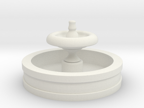 N Scale Fountain in White Strong & Flexible