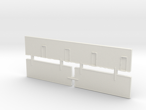 Strip Mall Walls 3A Z Scale in White Strong & Flexible