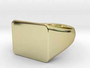 Customizable signet Ring Rectangular in 18k Gold Plated