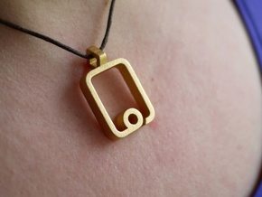 iPad Pendant in Matte Gold Steel