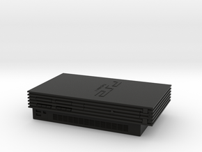 Sony PlayStation 2 (Scale 1:5) in Black Strong & Flexible