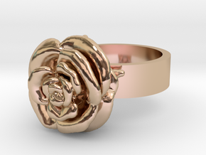 Rose Ring in 14k Rose Gold Plated