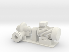 O Scale Centrifugal Pump #1 (Size 4) v2 in White Strong & Flexible