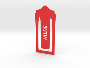Bookmark in Red Strong & Flexible Polished