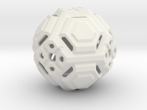 Angular ball in White Strong & Flexible