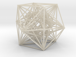 Inverted Cuboctahedra, 1.5 mm wires in White Acrylic
