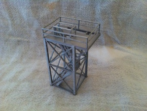 'N Scale' - 10 Ft x 10 Ft x 20 Ft Tower Top With S in Frosted Ultra Detail