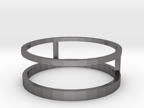 two way ring in Polished Nickel Steel