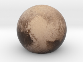 Pluto Sphere Small in Full Color Sandstone