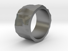 Stone age ring - size 6 US in Raw Silver
