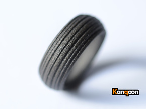 Speedy -Ring - US 9¾ - 19,5 mm inside diameter in Matte Black Steel