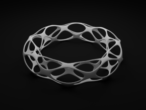Voronoi Bracelet in White Strong & Flexible Polished
