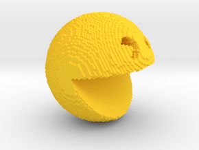 Pacman pixelated from 'PIXELS 2015' movie in Yellow Strong & Flexible Polished
