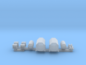 1:350 Scale US Aircraft Carrier Cargo Set 1 in Frosted Extreme Detail