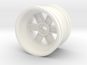Wheel Design V in White Strong & Flexible Polished