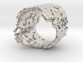 Ring Melting No.8 in Rhodium Plated