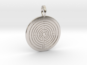 LABYRINTH CHARM in Rhodium Plated