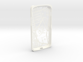 Nexus 4 Hong Kong Mongkok Map Phone Case in White Strong & Flexible Polished