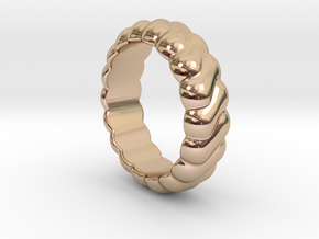 Harmony Ring 14 – Italian Size 14 in 14k Rose Gold Plated