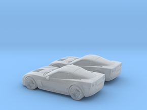 1/160 2X 2003-13 Chevrolet  Corvette C6 in Frosted Ultra Detail