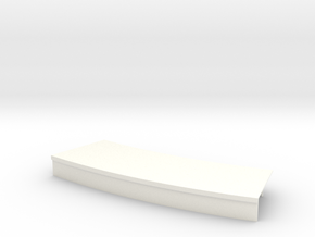 Curved platform (customization available) in White Strong & Flexible Polished