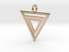 P110 Delta Pendant in 14k Rose Gold Plated