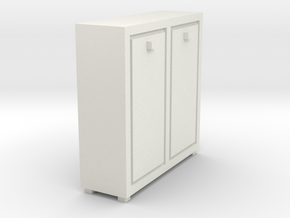A 020 cabinet Schrank 1:87 in White Strong & Flexible