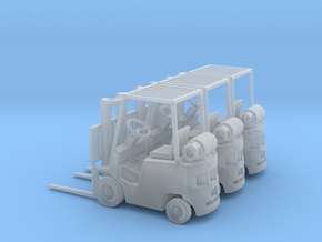 Yale Forklift (N - 1:160) 3X in Frosted Extreme Detail