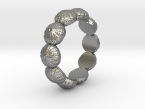 Urchin Ring 1 - US-Size 6 (16.51 mm) in Raw Silver