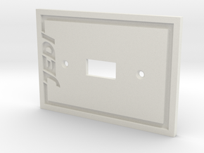 Jedi Light Switch Plate in White Strong & Flexible