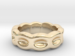 Funny Ring 28 – Italian Size 28 in 14k Gold Plated