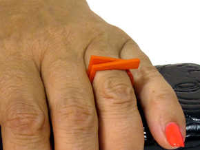 Adjustable ring. Basic set 1. in Orange Strong & Flexible Polished