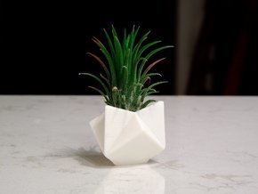 Ruba Rombic Cube Planter in White Strong & Flexible