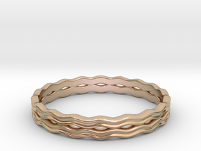 Waterring (Japan 14,America 7.5,Britain O)  in 14k Rose Gold Plated