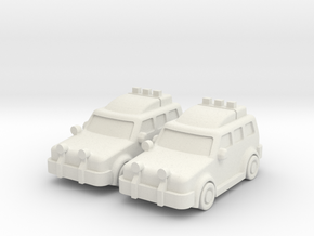 4x4 Cars (2 pcs) in White Strong & Flexible