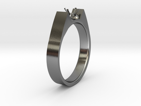 Design Ring For Diamond Ø19 Mm US Size 9 in Polished Silver