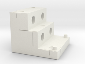 Marker Block 2A - 7mm Tungsten in White Strong & Flexible
