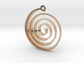 KORU earring in 14k Rose Gold