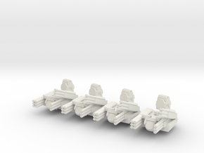 Pantsir S1 6mm Alternate Turrets Set of 4 in White Strong & Flexible